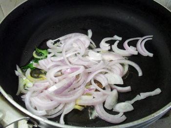 Adding onions in
