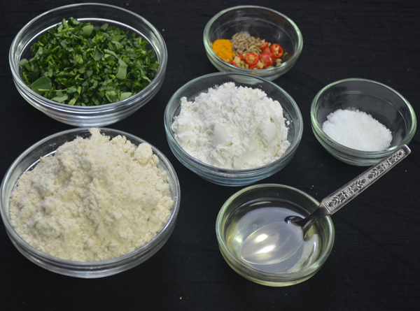 Jwari-Methi dhirde ingredients