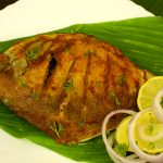 Pomfret-fry food style