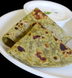 Pudina Paratha | Mint Paratha | Mint Flavored Indian Flat Bread