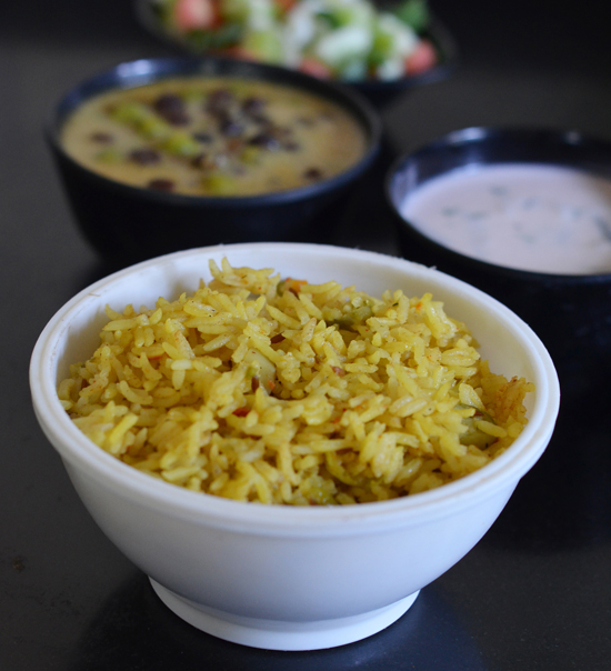 Masala Bhat cooked in pressure cooker