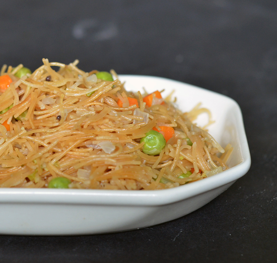 simple healthy breakfast with vermicelli