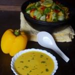 Healthy vegetarian bell pepper soup