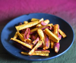 Oven Baked Sweet Potato Fries Recipe In Marathi