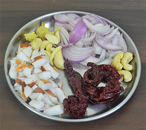 Ingredients for Malwani Red Paste