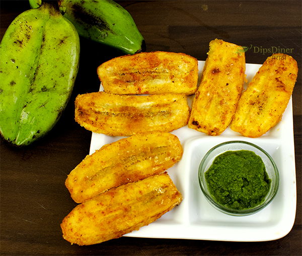Raw Banana Fry for Fasting
